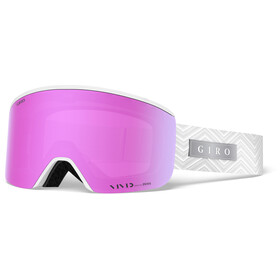 Giro Ella Uimalasit Naiset, white zag/vivid pink/vivid infrared